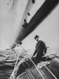 King Constantine Ii of Greece Sailing in His Boat Premium Photographic Print