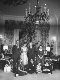 Dwight D. Eisenhower and Family Celebrating Christmas Eve in the White House Premium Photographic Print by Ed Clark