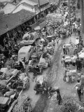 Refugees from the China Civil War Premium Photographic Print
