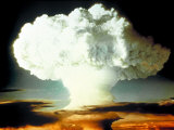 "Mushrm. Cloud Rising White, Blotting Horizon, in ""Op Ivy, Mike Shot"" Atomic Bomb Test Blast Premium Photographic Print"
