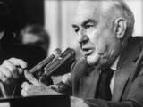 Sen. Sam Ervin Questioning Witness During Watergate Hearings Photographic Print by Gjon Mili