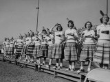 Cheerleaders at Florida State University Premium Photographic Print