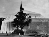 Kunsthalle Art Museum Wrapped in Plastic by Sculptor Christo Javacheff Premium Photographic Print by Carlo Bavagnoli