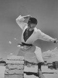 Members of Tiger Div. at Karate Practice Photographic Print