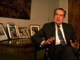 Former Pres. Richard Nixon During Time Interview in His Office Premium Photographic Print by Ted Thai