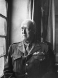 U.S. Army General George Patton Gazing Thoughfully Out of Window Premium Photographic Print