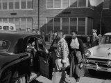 African American Children Attending School Premium Photographic Print by Ed Clark