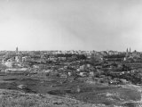 Panorama of Jerusalem Showing a View of the Ancient City Premium Photographic Print