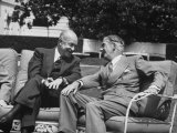Pres. Dwight D. Eisenhower and Anthony Eden at a Conference Premium Photographic Print