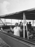 Pres. Harry S. Truman on His Yacht Williamsburg During Trip to West Indies Premium Photographic Print