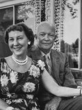 Former President Dwight D. Eisenhower and Wife Mamie at their Farm Premium Photographic Print by Ed Clark