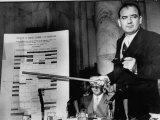 Senator Joseph R. Mccarthy Using a Chart to Press a Point at the Army-Mccarthy Hearings Photographic Print