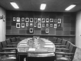 The Vacant Conference Room in the Un Building Premium Photographic Print by Andreas Feininger