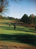 Golfers Playing on the Pinehurst No. 2 Championship Golf Course Premium Photographic Print
