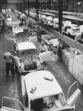 View of an Auto Plant and Workers Premium Photographic Print by Ralph Crane