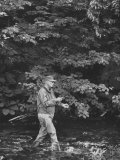 Pres. Dwight D. Eisenhower Fishing, During His New England Vacation Premium Photographic Print