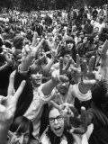 Hippies in Lincoln Park During Dem. Natl. Convention Premium Photographic Print