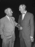 Pres. Harry S. Truman Talking to Dean Acheson Premium Photographic Print