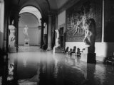 "Flooded Museum, Accademia, Michelangelo's, ""David"" in Rear Premium Photographic Print"