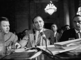 Sen. Joseph R. McCarthy Sitting with His Lawyer Roy M. Cohn During the Army-McCarthy Hearings Photographic Print by Yale Joel