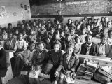 Over-Crowded African-American School Is Really a One Room Baptist Church Premium Photographic Print