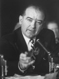 Sen. Joe McCarthy During Army-McCarthy Hearings Premium Photographic Print by Hank Walker