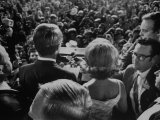 Robert F. Kennedy Making a Speech Shortly before Being Assassinated Premium Photographic Print