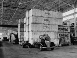Opel and Pontiac Parts, Shipped from Germany, Stored in Crates in a General Motors Warehouse Premium Photographic Print