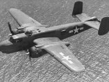 Excellent of a B-25 Mitchell Bomber in Flight Photographic Print