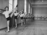 Ballet Class for Youngsters Who Aspire to Roles in the Corps De Ballet of the Vienna Opera House Premium Photographic Print by Ralph Crane
