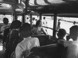 White Children in a Segerated School Bus Premium Photographic Print