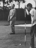 Lndonesian Pres. Suharto Playing Golf at Djakarta Club Premium Photographic Print