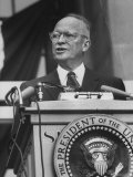 President Dwight D. Eisenhower Campaigning for Richard M. Nixon Premium Photographic Print by Ed Clark