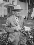 Former President Dwight D. Eisenhower, at His Farm at Gettysburg, Pennsylvania Premium Photographic Print