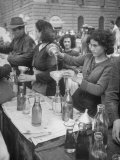 Pouring Olive Oil in Buyers' Bottles in Black Market Photographic Print by Alfred Eisenstaedt