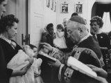 Robert F. Kennedy's Baby Being Baptised Premium Photographic Print by Ed Clark