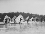 People Ice Skate Sailing on a Lake Photographic Print by Ralph Morse