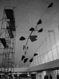Sculpture Mobile at Idlewild Airport by Alexander Calder Premium Photographic Print