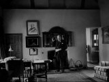 Winston Churchill Standing in His Study at His Home Chartwell Photographic Print
