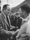Hubert Humphrey Campaigning in West Virginia Primarties Photographic Print