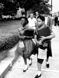 African American Students Going to the 8th Grade as Segregation Ends Premium Photographic Print by Ed Clark