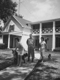 Senator Lyndon B. Johnson W. Family and Pets at Home on Ranch Photographic Print