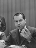 Gov. Richard M. Nixon, Eating Cranberries W. Meal During Campaign Premium Photographic Print