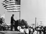 Ronald Reagan Campaigning for Governor of California Premium Photographic Print