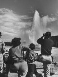 Old Faithful in Yellowstone National Park Premium Photographic Print