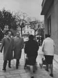 Prime Minister Constantine Karamanlis Strolling Down the Street Premium Photographic Print