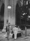 Military Funeral of Adm. William F. Halsey at National Cathedral Premium Photographic Print by Ed Clark