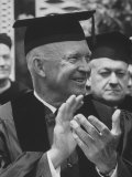 Pres. Dwight D. Eisenhower Receiving Honorary Degree at Notre Dame Premium Photographic Print