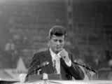 Sen. John F. Kennedy Speaking at Democratic National Convention Premium Photographic Print
