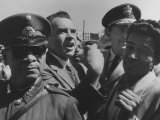 Vice President Richard M. Nixon Yelling at Students at San Marcos University Premium Photographic Print